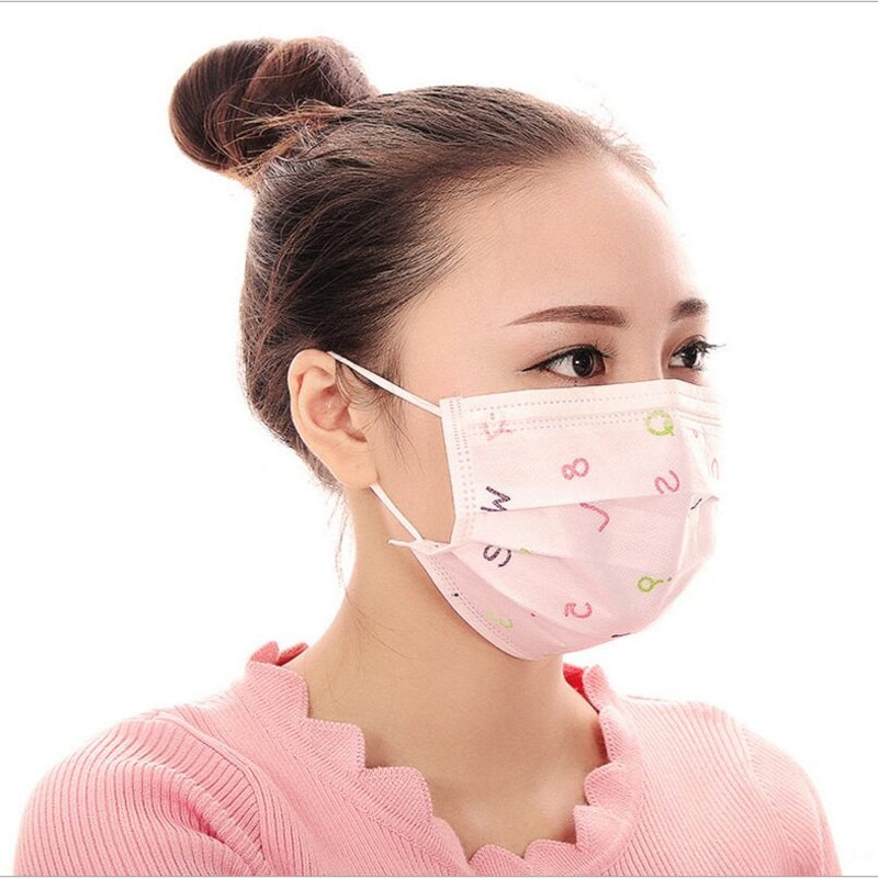 100pcs 3 Layers Non Woven Disposable Anti Dust Mouth Mask