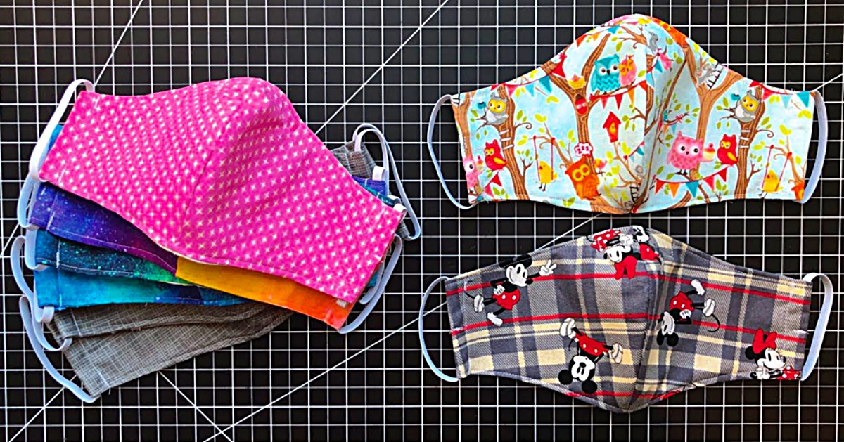 15 Minute Fabric Mask With A Free Pattern