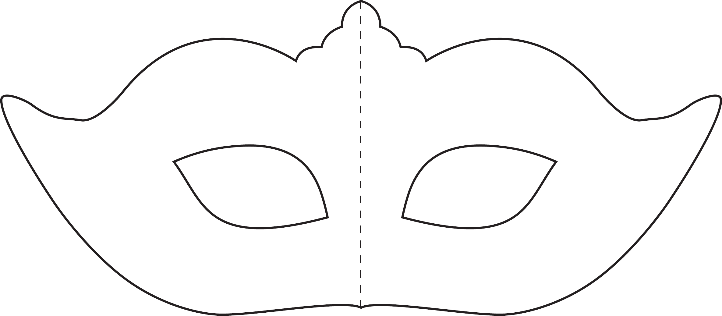 29 Images Of Crepe Paper Masks Printable Template For