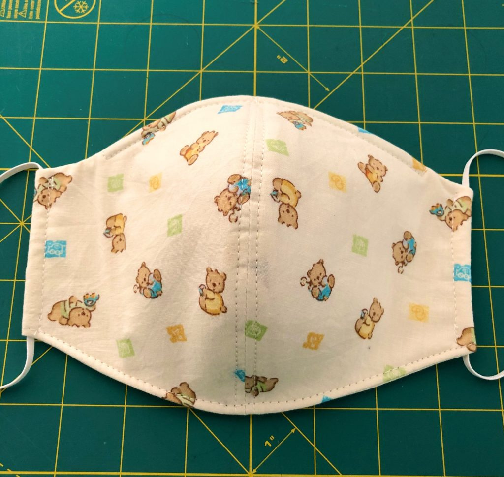 3D Face Mask Sewing Pattern PDF Facemask Onyx Prints