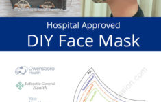 Printable Face Mask Pattern With Nose Wire