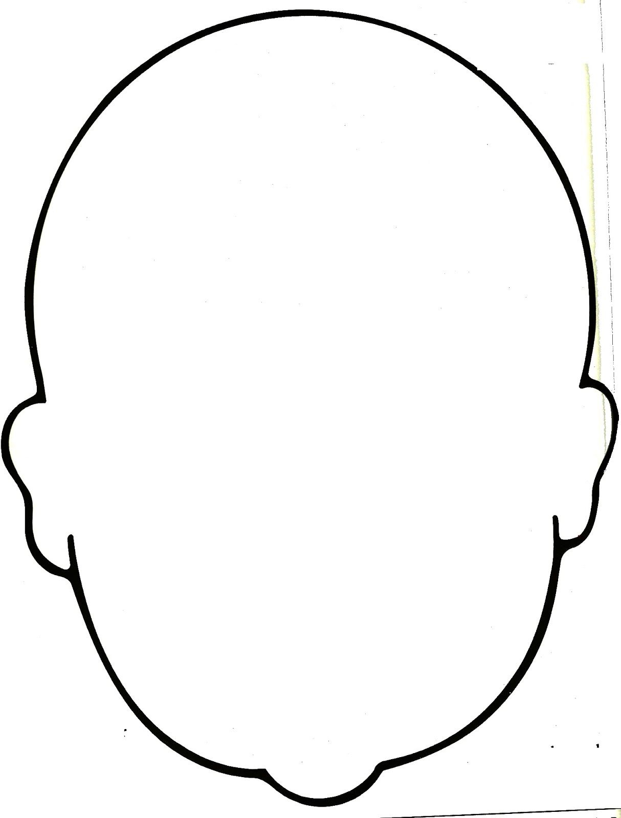 8 Views Face Template Face Outline Coloring Pages