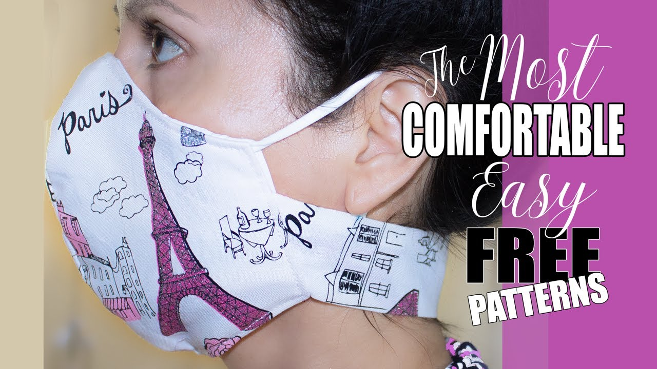 9 FREE Printable Face Mask PATTERNS The MOST COMFORTABLY