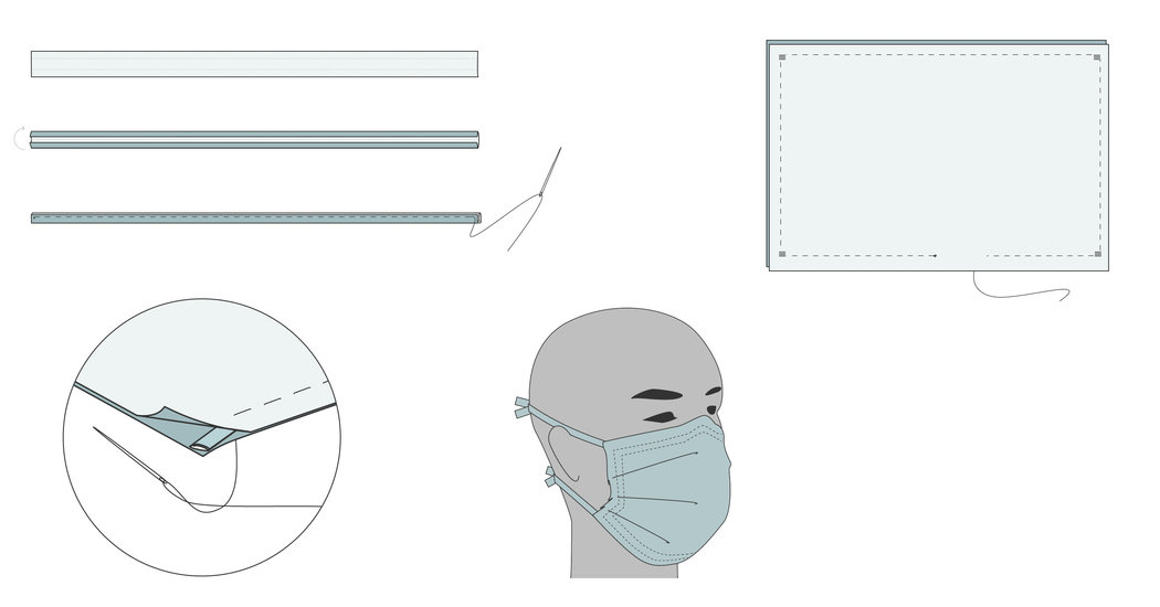 A Sewing Pattern For Fabric Face Mask The New York Times