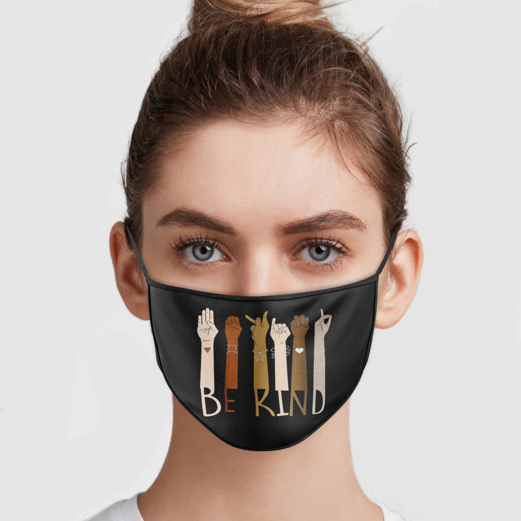 Be Kind Sign Language Face Mask Allbluetees
