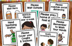 Covid 19 Safety Posters Pre K Printable Fun