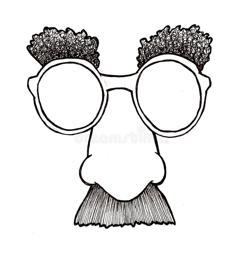 Disguise Mask Stock Vector Illustration Of Eyebrow