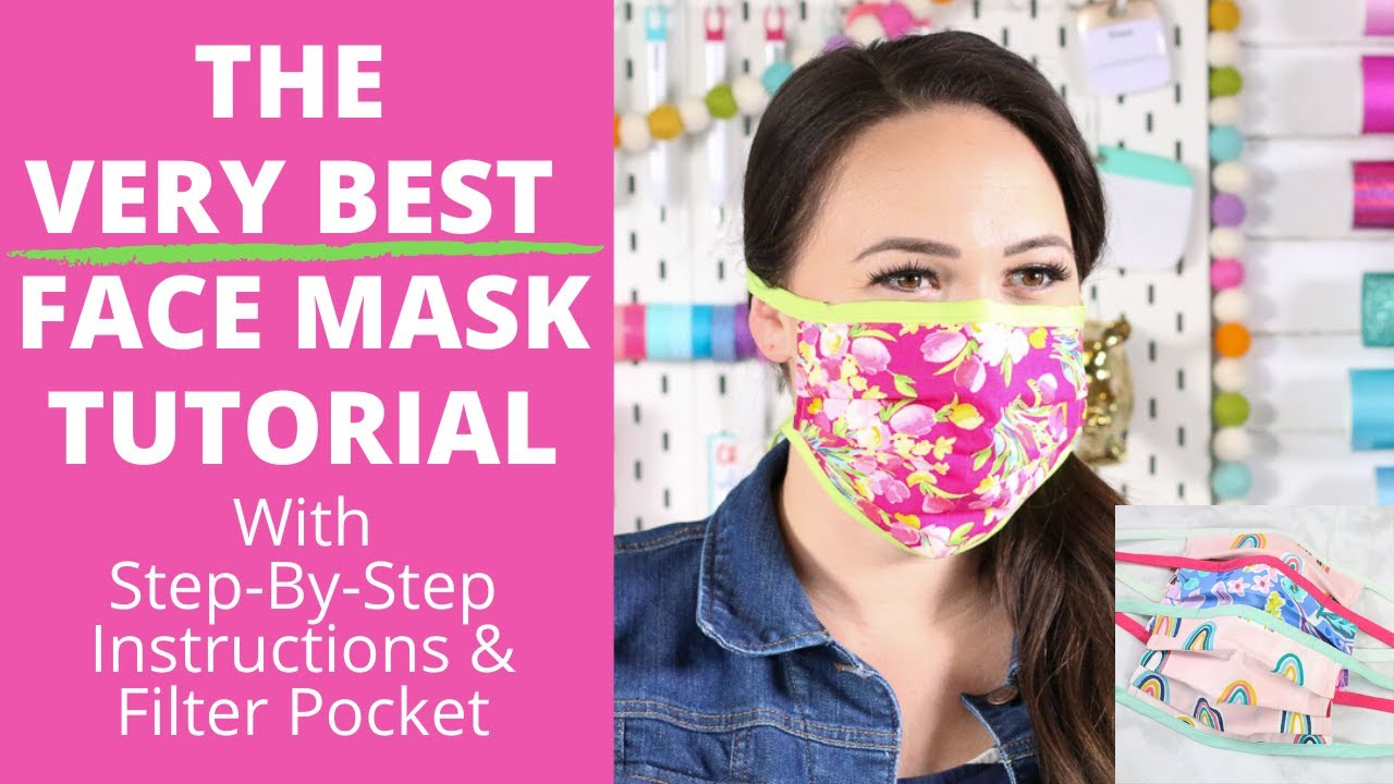DIY Best Fabric Face Mask Step by Step Tutorial For