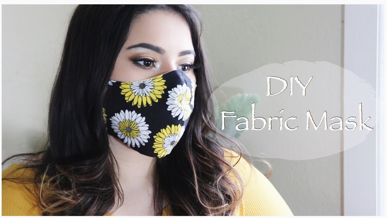 DIY Covid 19 Fabric Mask With Pattern Sewing Tutorial