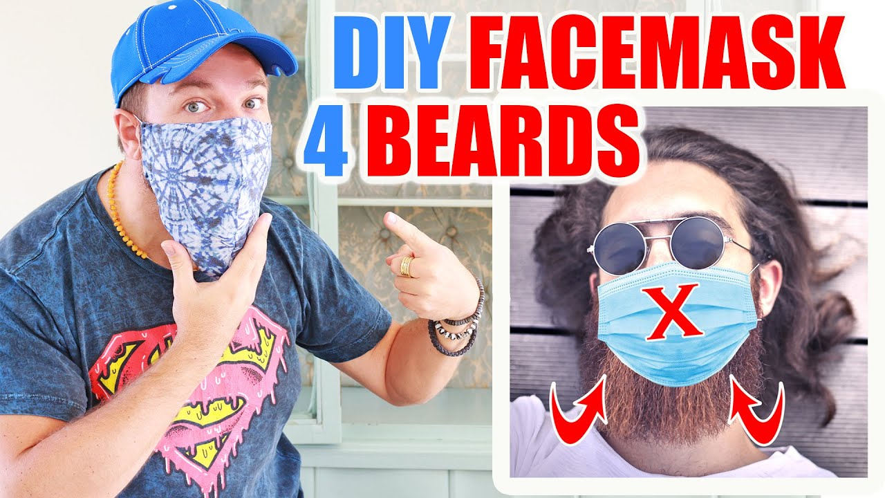 DIY FACE MASK For BEARDS Filter Pouch Free Pattern