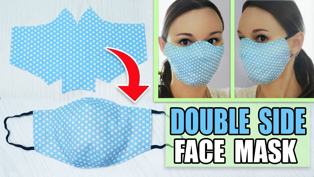 DIY FACE MASK TO PROTECT FROM VIRUS STEP BY STEP