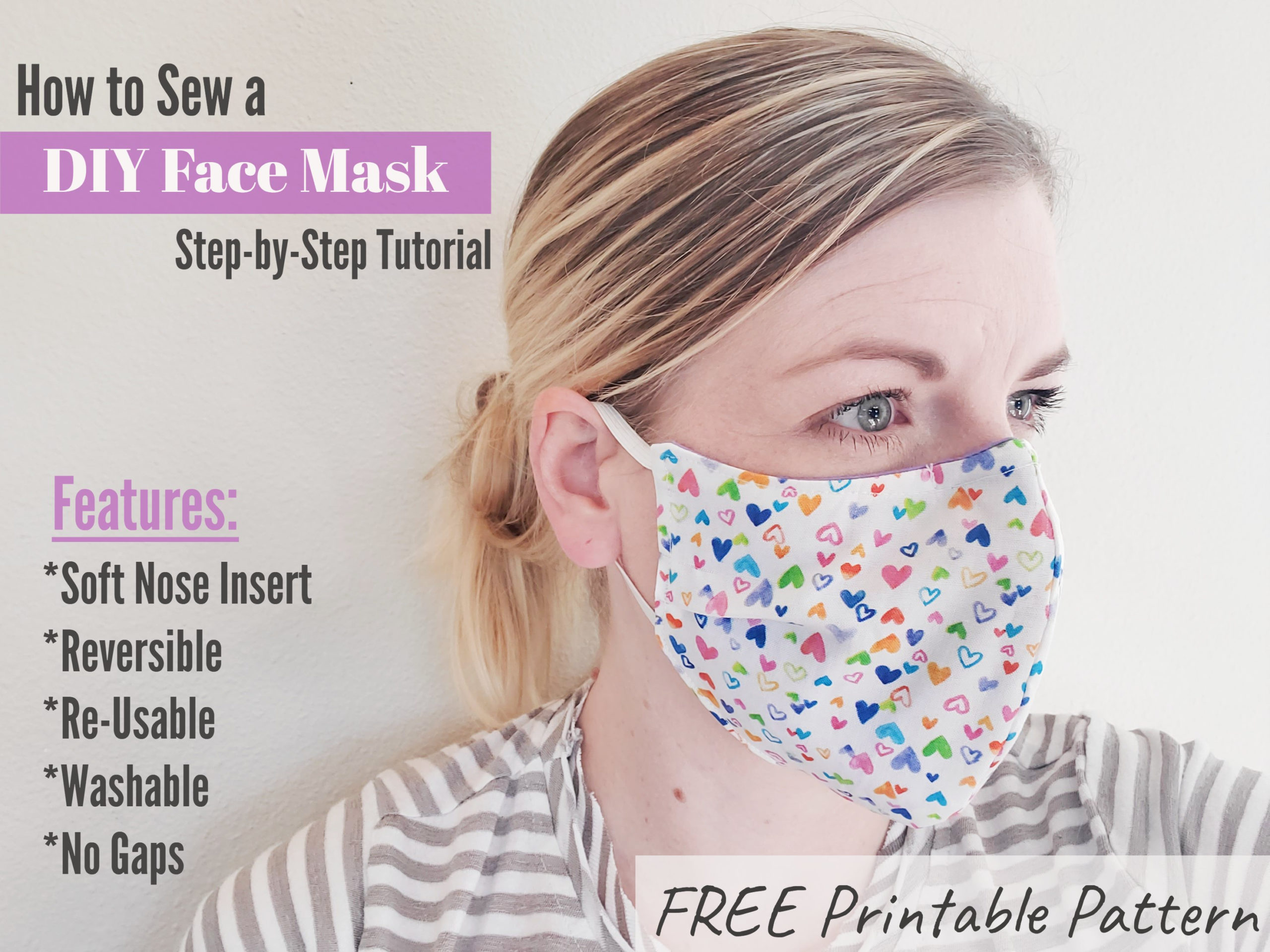 DIY Face Mask Tutorial And Pattern Eat Pray Create