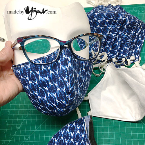 DIY Fitted Face Mask Made By Barb Free Pattern