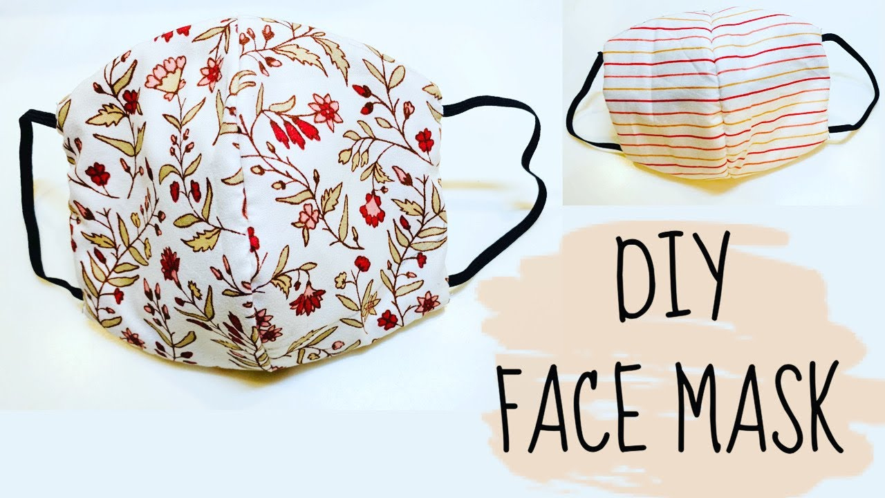 DIY How To Sew Face Mask NO Sewing Machine YouTube