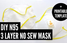 DIY N95 Face Mask No Sew Printable Template