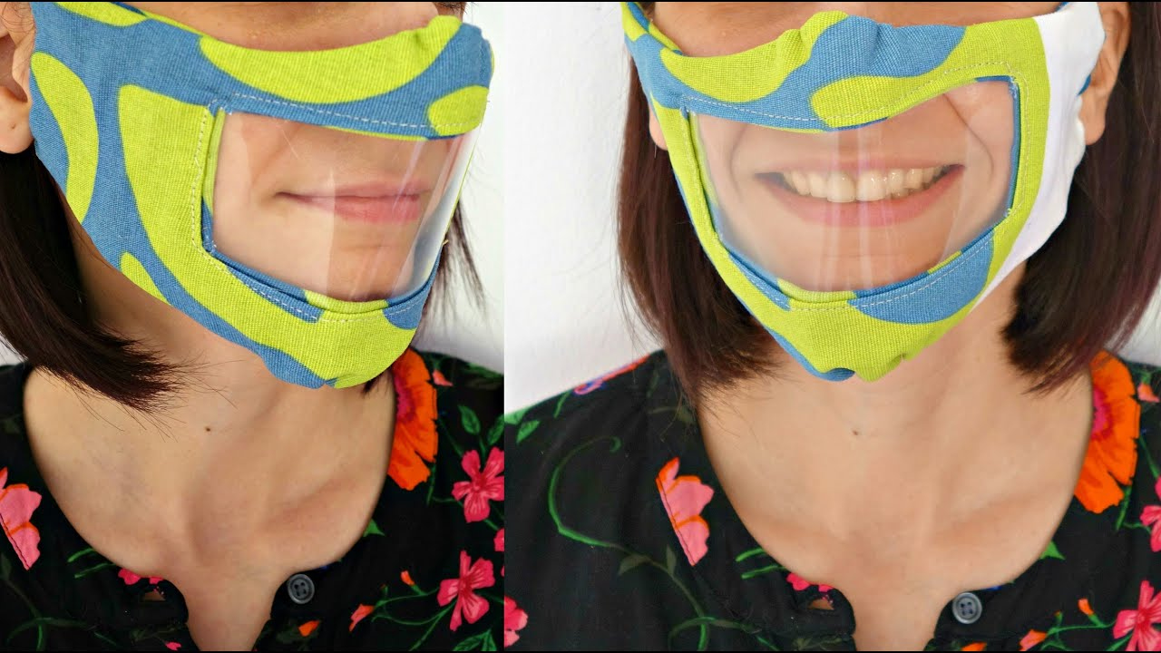 DIY Reusable Face Mask With Clear Window for The Deaf And
