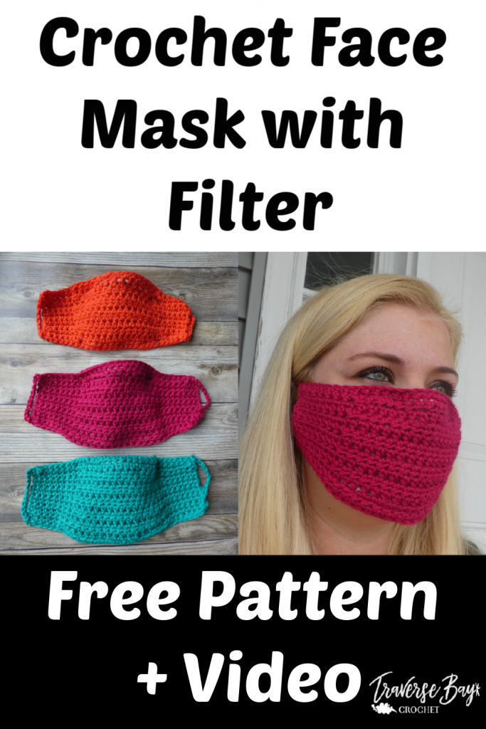 Easy DIY Crochet Face Mask With Filter