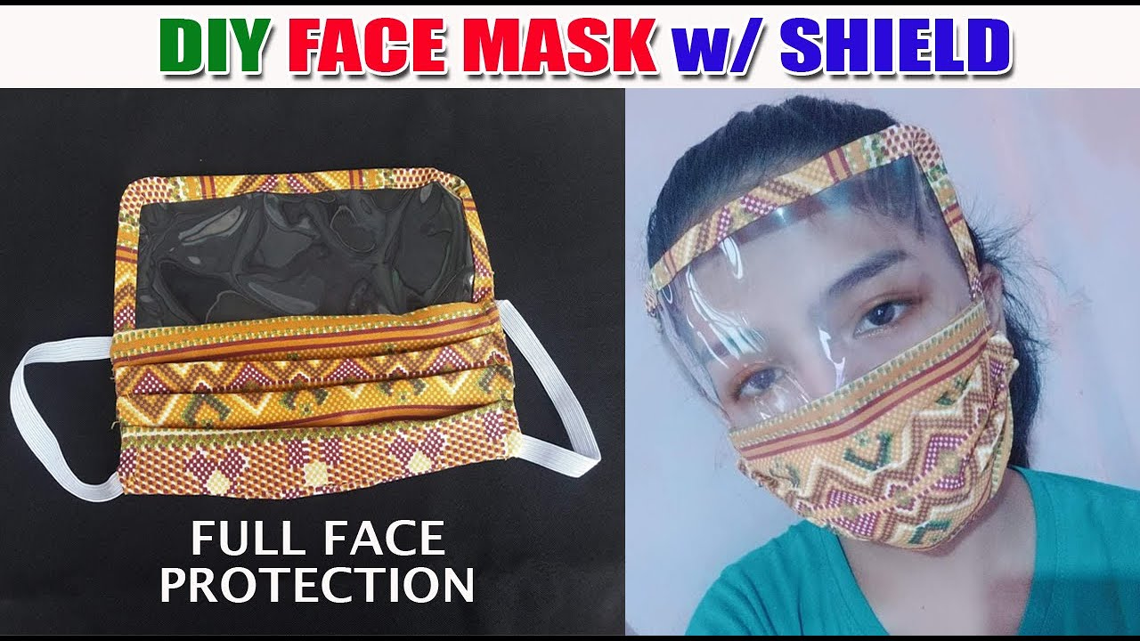 Easy DIY Full Face Protection Mask With Filter Pocket