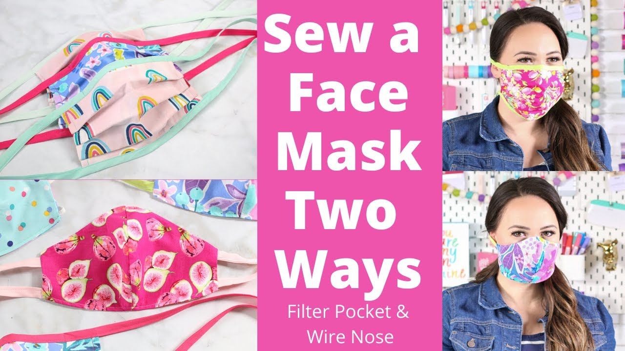 EASY How To Sew A Face Mask 2 Different Styles New CDC