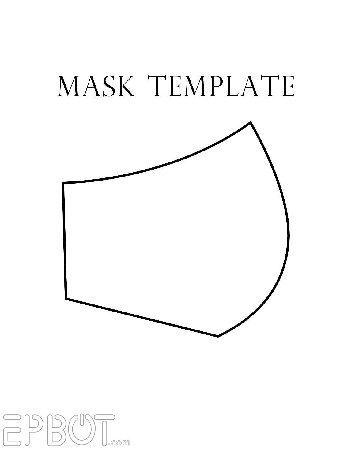 EPBOT My Faux Respirator Mask For Cons Free Template