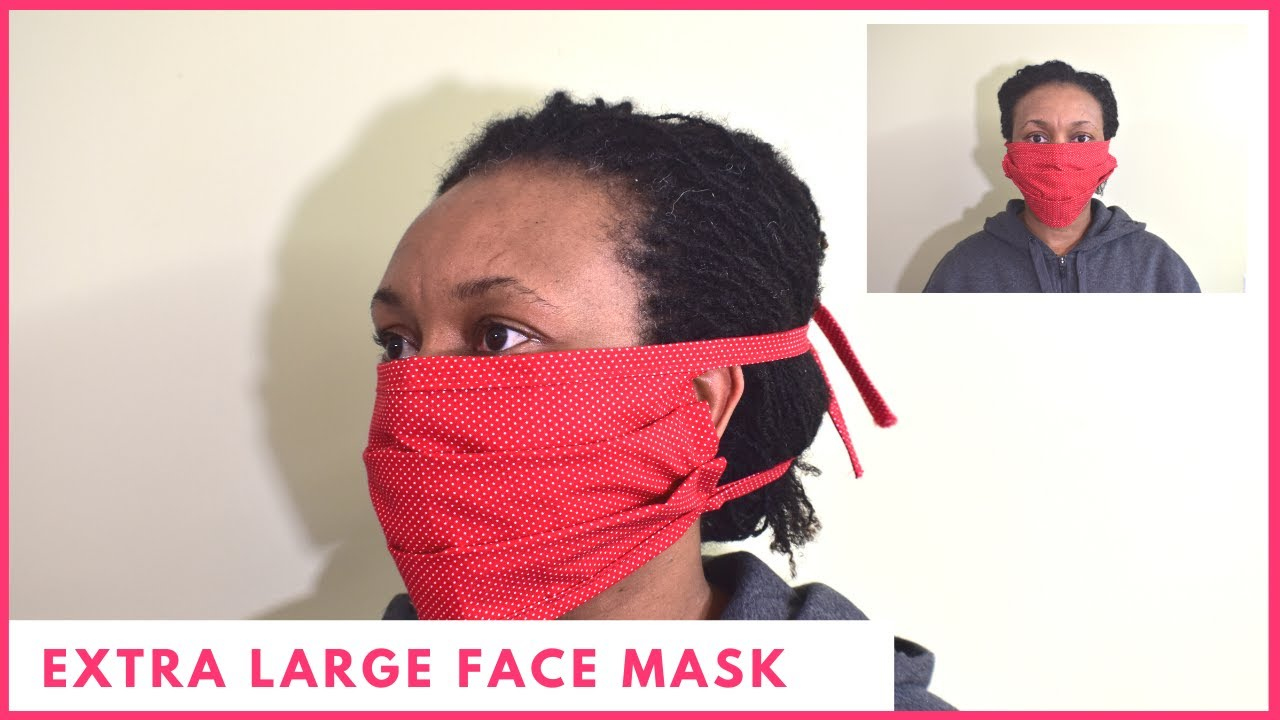 Extra Large Face Mask For Men With Beard Easy YouTube
