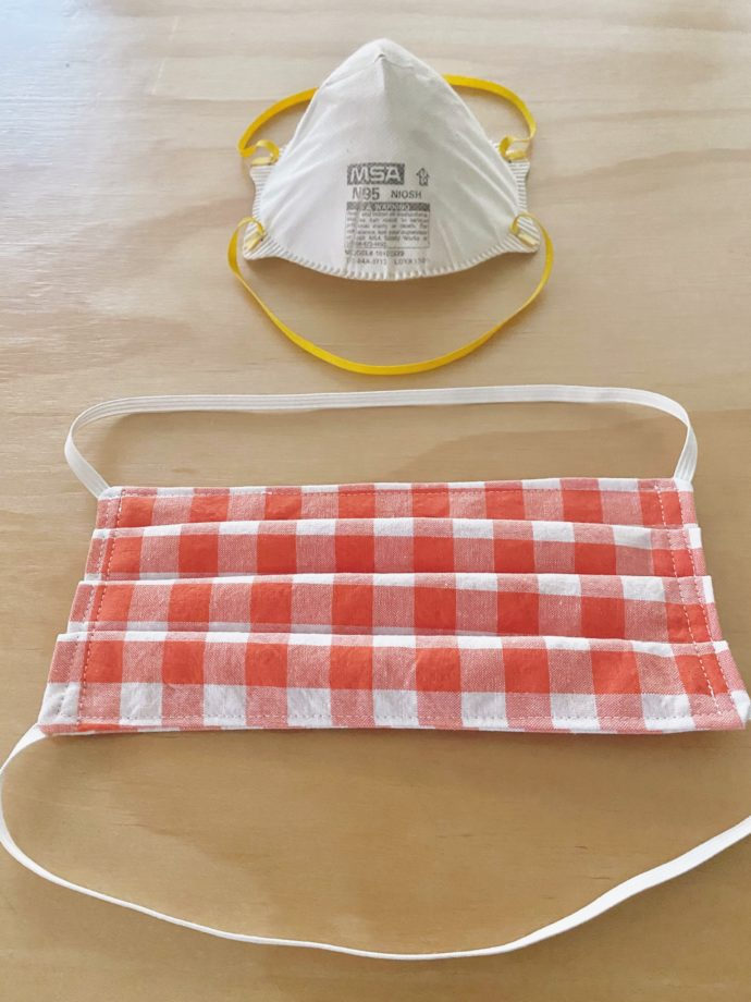 Fabric Face Mask With TIES OR ELASTIC MADE EVERYDAY