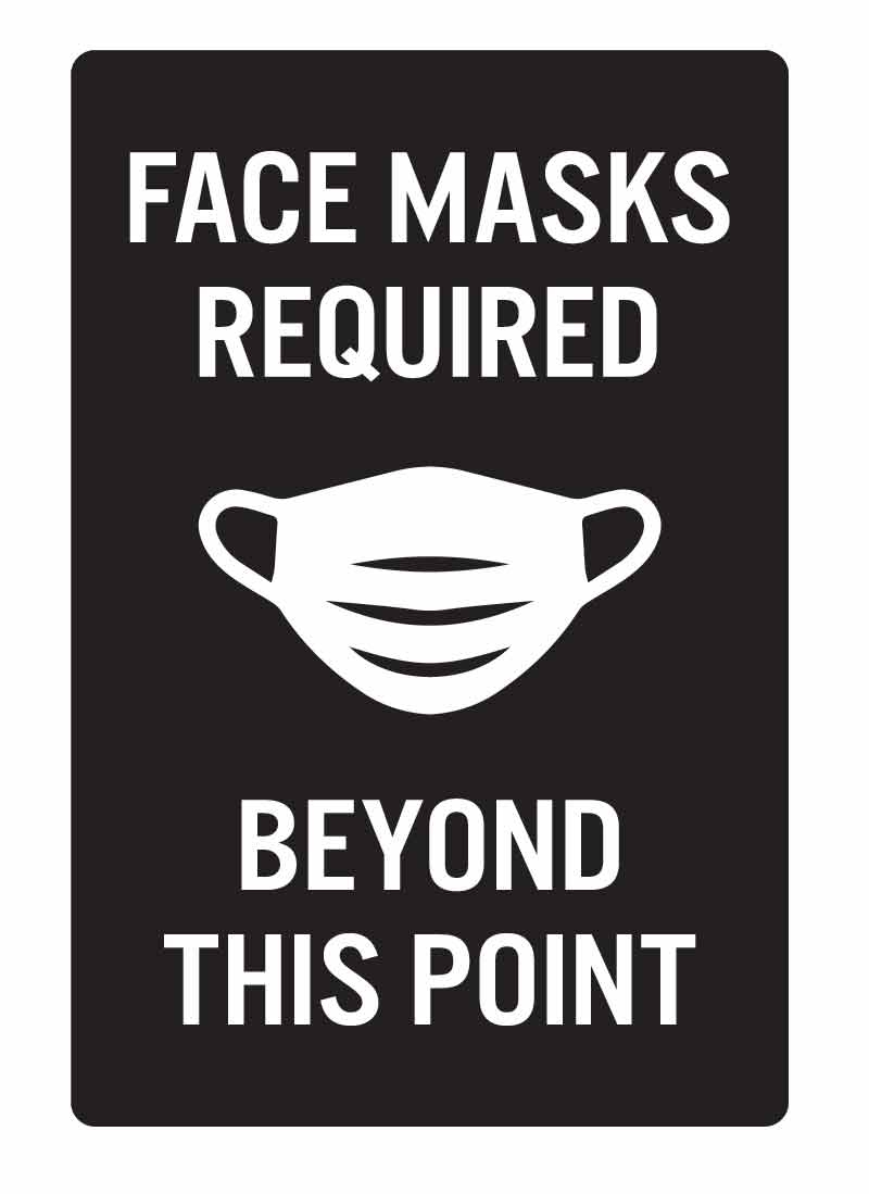 Face Covering Required Sign Face Mask Signs Engraved Plastic