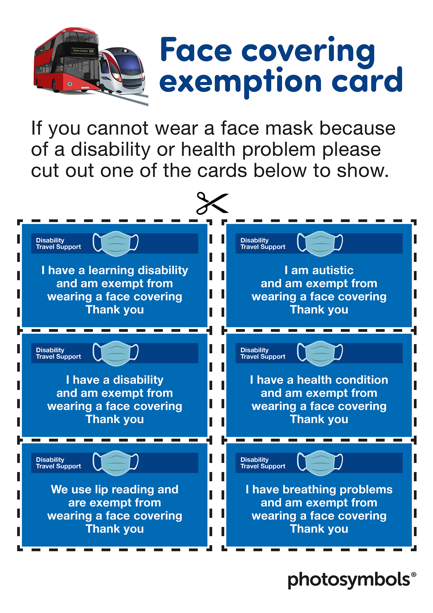 Face Mask Exemption COVID 19 Sycamore House Surgery