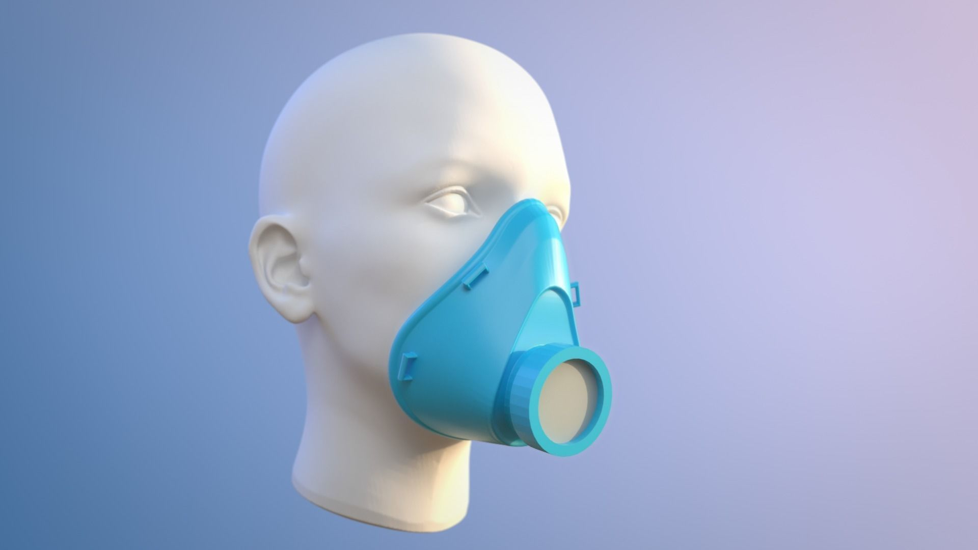 Face Mask For Covid 19 Virus Protection 3D Printable Model