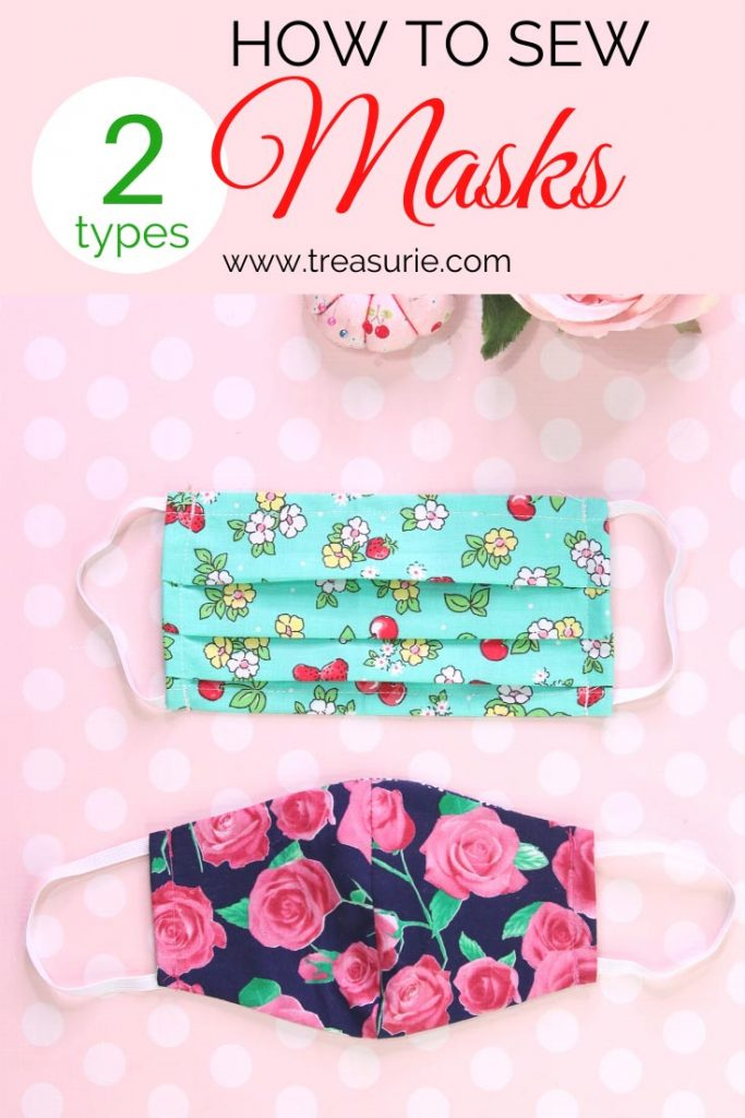 Face Mask Pattern DIY Mask In 2 Styles FREE TREASURIE