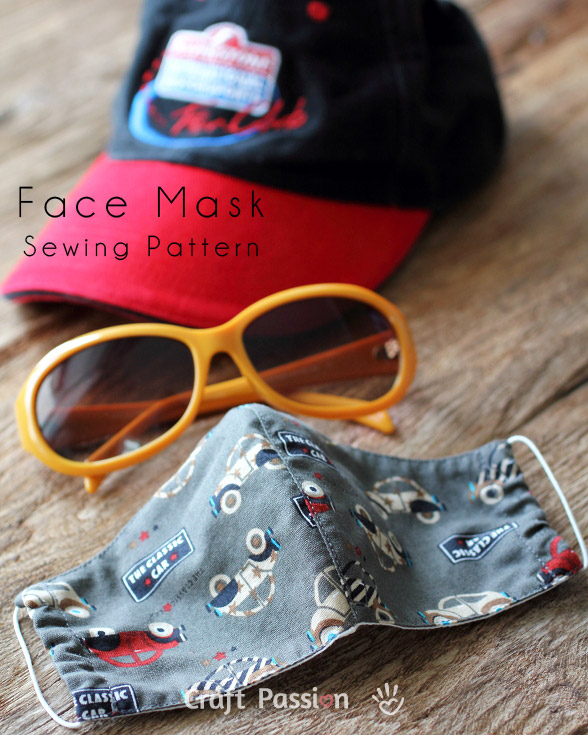 Face Mask Pattern Free Sewing Patter Craft Passion