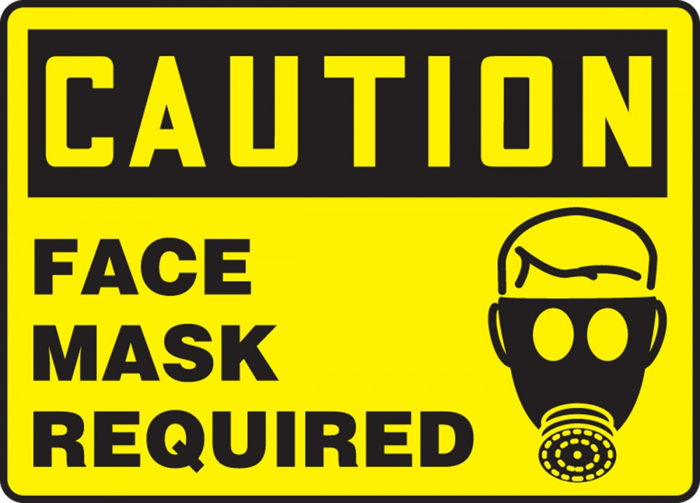 Face Mask Required OSHA Caution Safety Sign MPPE462