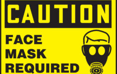 Printable Face Mask Required Poster