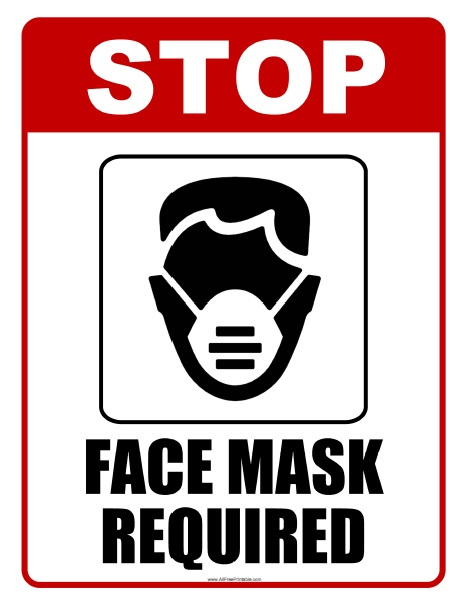 Face Mask Required Sign Free Printable