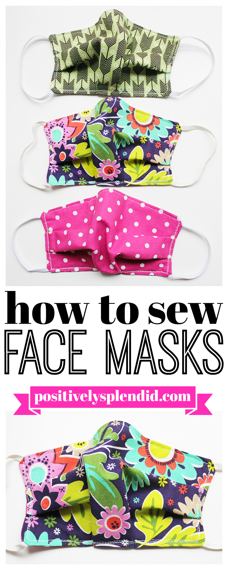 Face Mask Sewing Pattern And Tutorial Positively Splendid