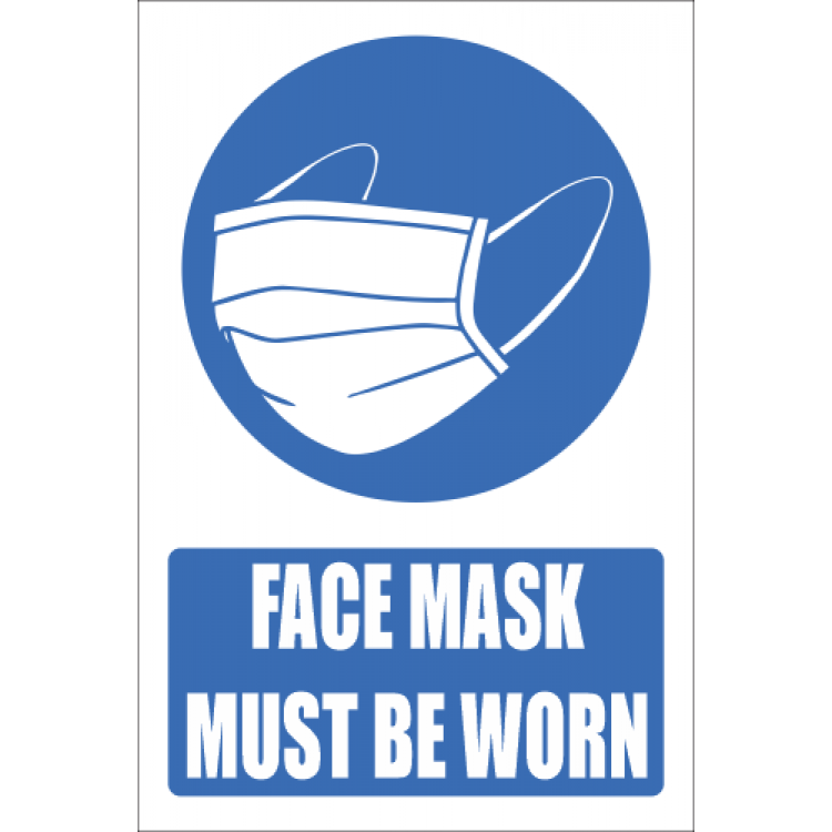 Face Mask Should Be Worn Explanatory Sign