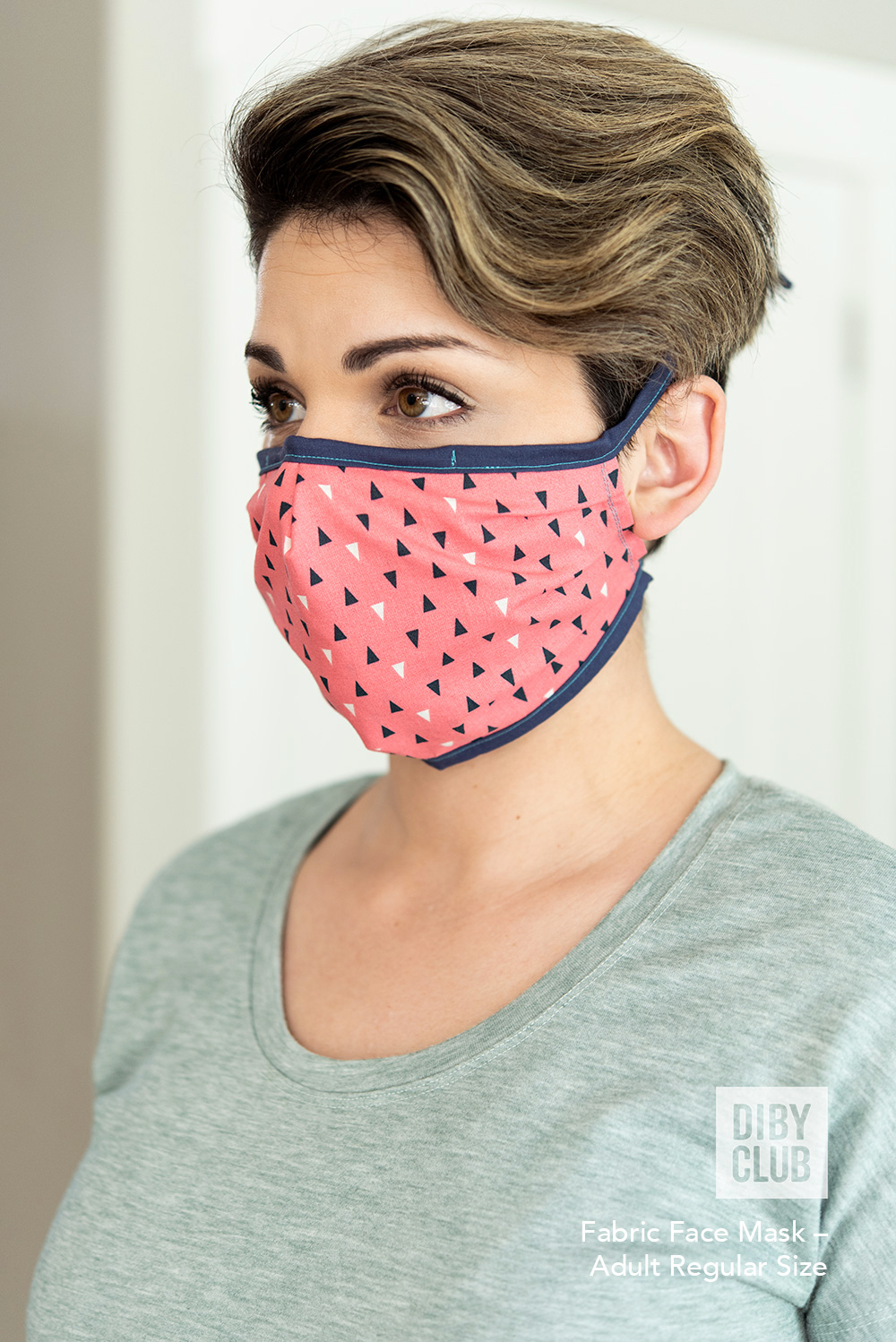 Fitted Face Mask FREE PDF Sewing Pattern DIBY Club