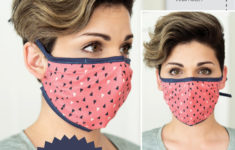 Fitted Face Mask Pattern Printable