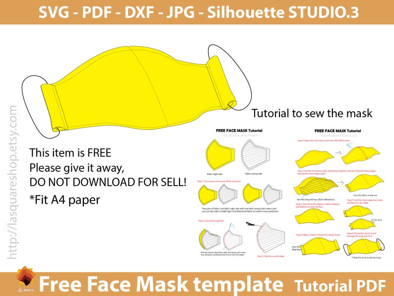 Free Face Mask Templates SVG Face Mask Face Mask