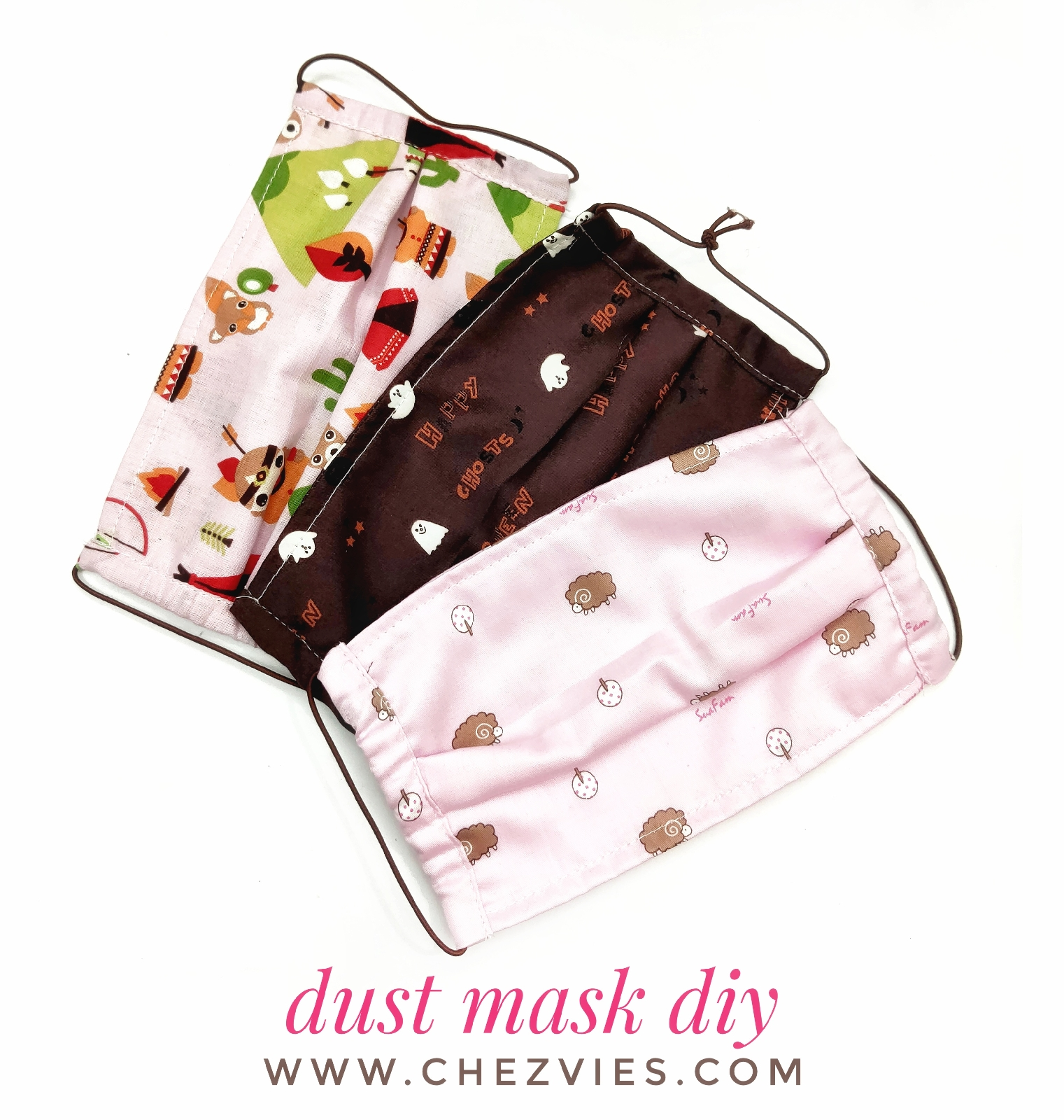 Free Pattern DIY Dust Mask With Nose Wire