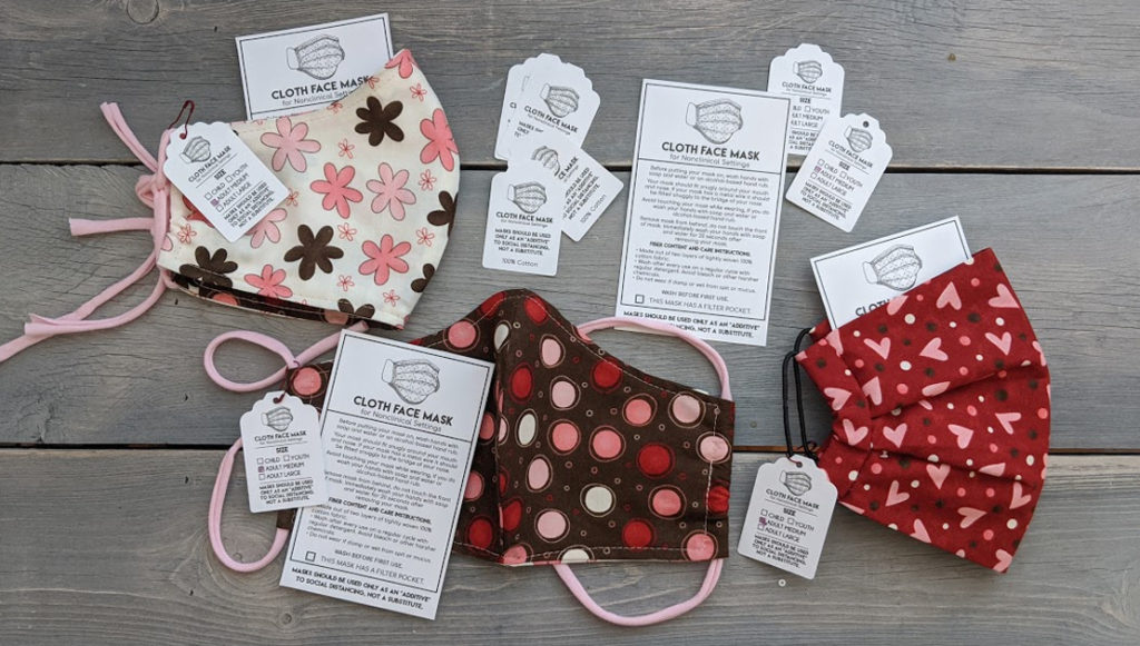 Free Printable Care And Details Tag For Cloth Face Masks