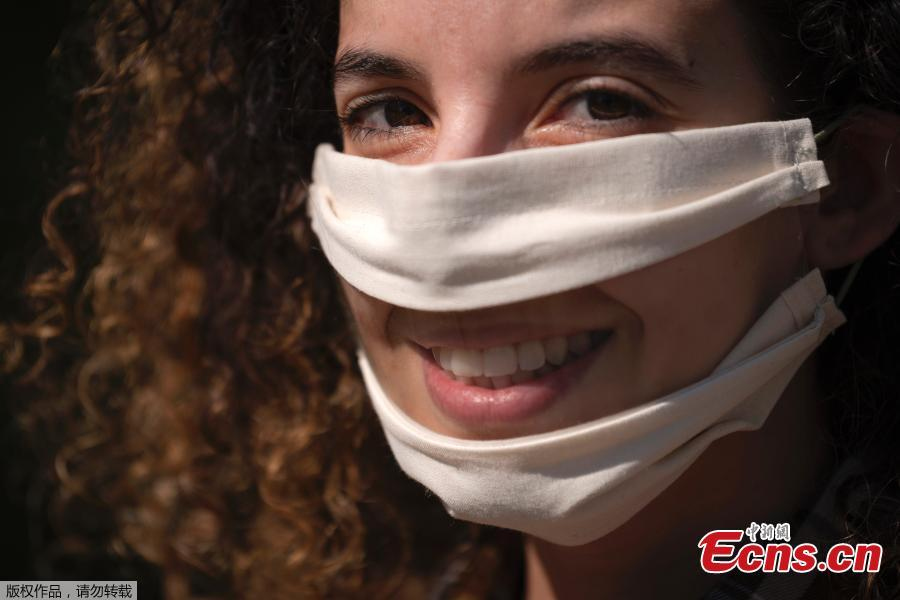 French Woman Makes Lip readable Masks For Those In Need