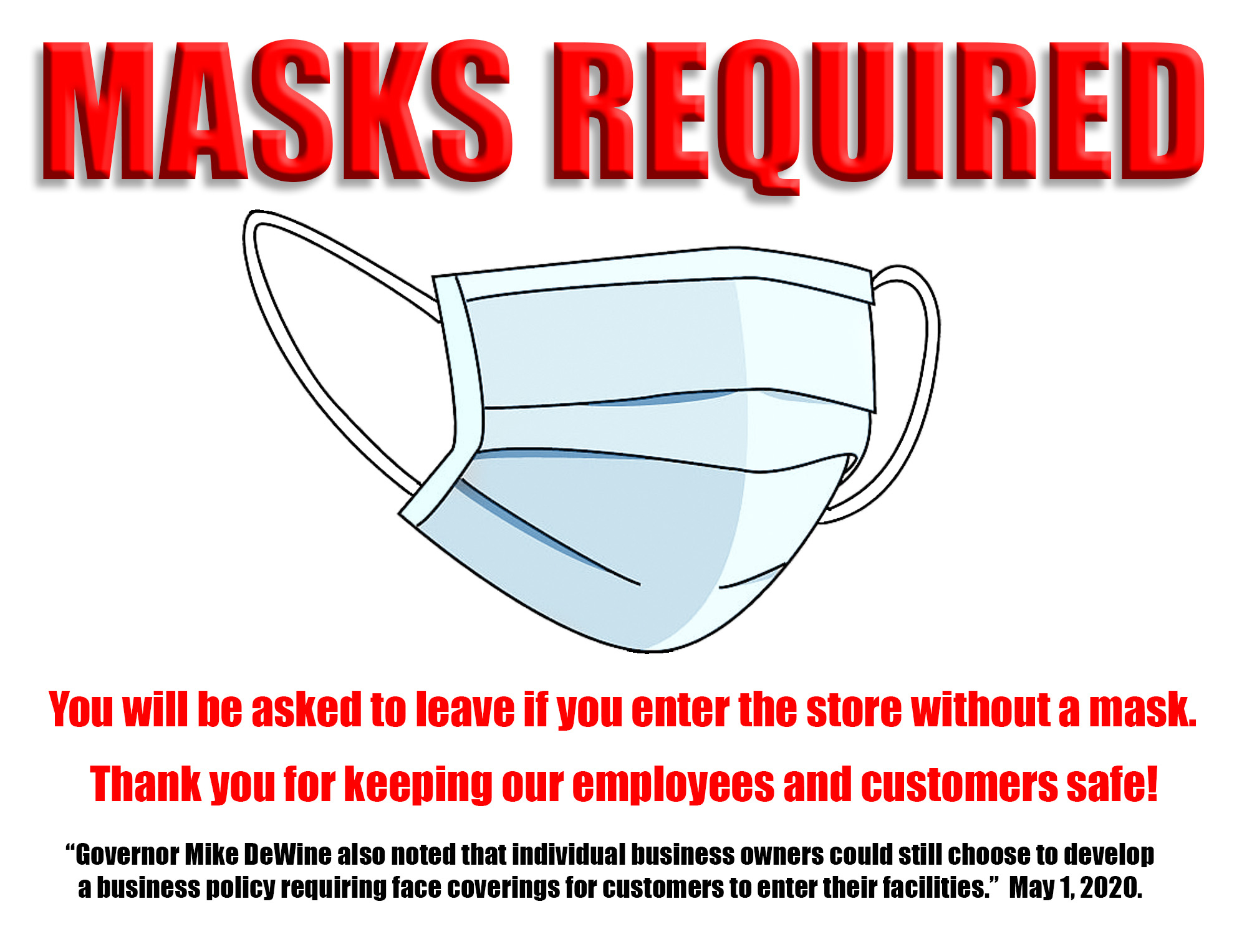 Handy masks Required Sign You Can Download Here For Free