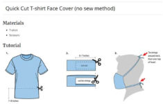 Printable Face Mask And Instructions