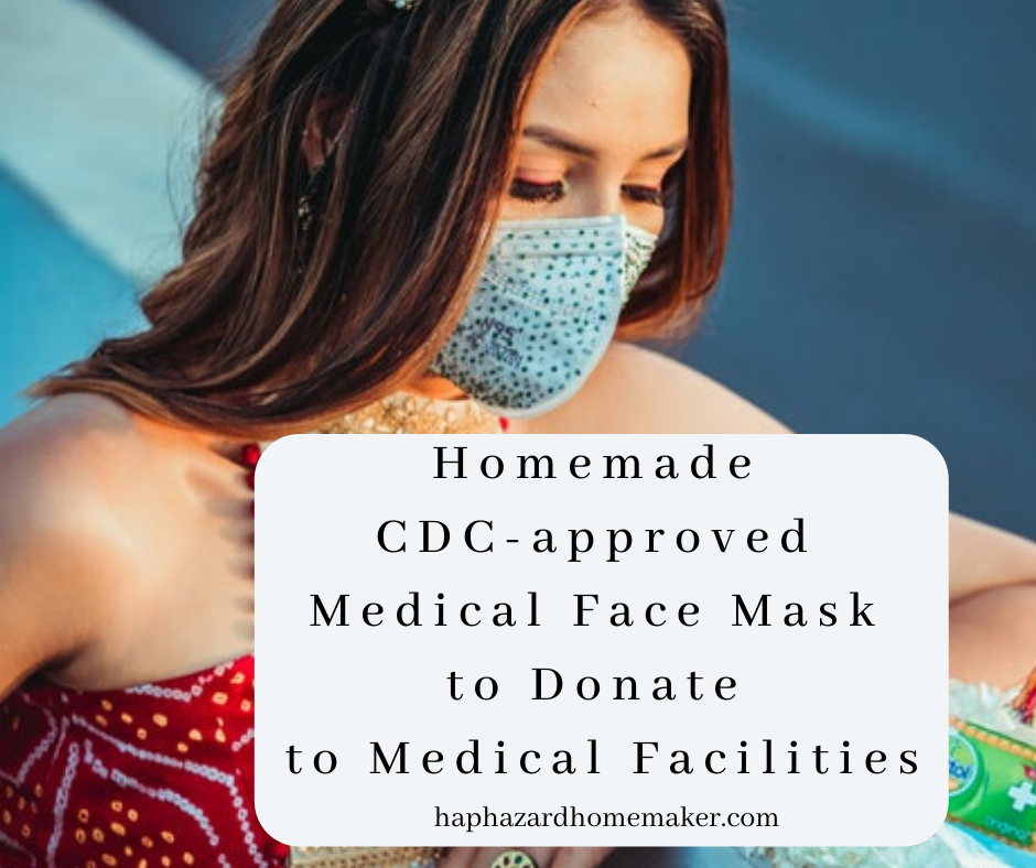 Homemade CDC approved Medical Face Mask To Donate To