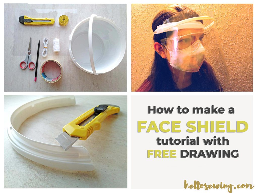 Homemade Face Shield With Household Materials Step By