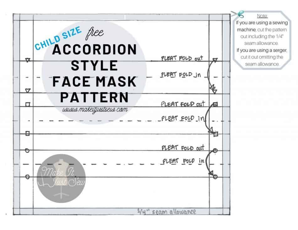 How To Make A DIY Face Mask Free Pattern For An