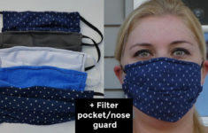 Printable Face Mask Pattern With Filter Pocket