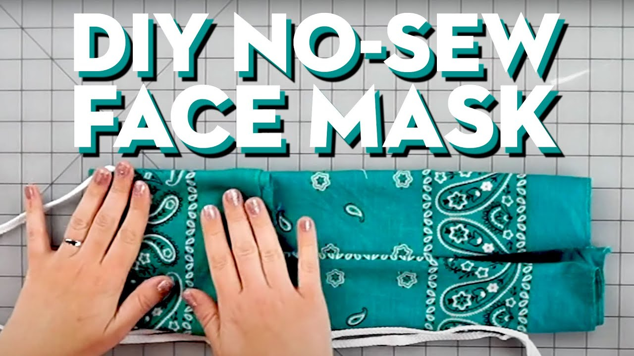 HOW TO MAKE A DIY NO SEW FACE MASK GOOD HOUSEKEEPING