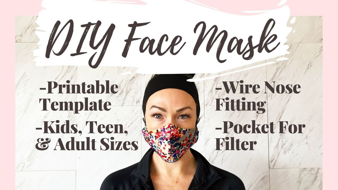 How To Make A Face Mask With Filter Pocket And Nose Wire